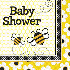 amazon com bumble bee baby shower napkins 16ct sized