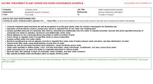 Pipefitter Resume Examples by Water Utilities Pipefitter Cv Work Experience Samples