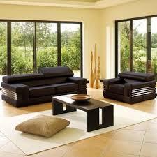 salon canapé noir modèle decoration salon canape noir