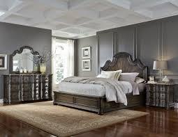 Pulaski Edwardian Nightstand Bedroom Pulaski Bedroom Furniture Silver Patina Upholstered Panel