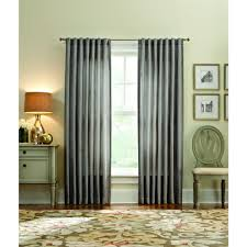 Textured Cotton Tie Top Drape by Curtains U0026 Drapes Window Treatments The Home Depot