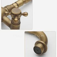 heightening 2 handle bronze kitchen sink faucets