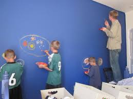 bedroom kids decorating ideas for boys with blue paint colors and