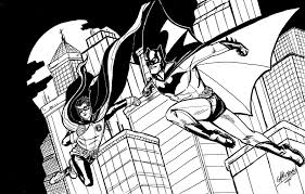 batman and nightwing coloring pages virtren com