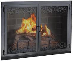 living room iron custom fireplace insert door with scribed frame