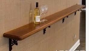 solid wooden wall mounted wine rack creative fashion storage wine