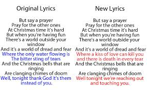 New Lyrics Here Are The Lyrics To The New Band Aid 30 Version Of Do They