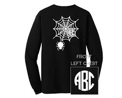 halloween spider web monogram shirt long sleeve u2013 sew southern