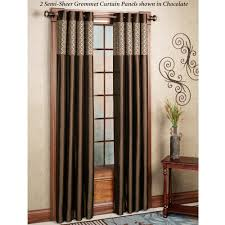 furniture brown grommet curtain panels drapery panels