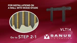 Sanus Simplicity Wall Mount How To Install Your Sanus Vlt14 Tv Mount Youtube