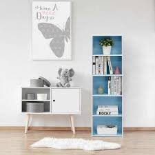 Blue Bookcases 5 Blue Bookcases Home Office Furniture The Home Depot