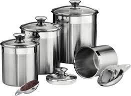Canister For Kitchen by Tramontina Gourmet 4 Piece Kitchen Canister Set U0026 Reviews Wayfair