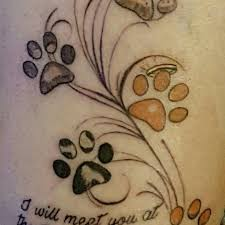 98 best tattoos images on pinterest paw print tattoos dog paw