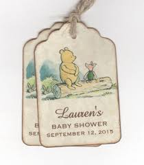 Classic Pooh Baby Shower 20 Winnie The Pooh Baby Shower Personalized Tags Or For
