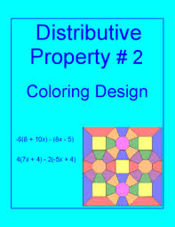 distributive property 2 coloring activity