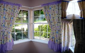 decorations corner windows with awesome window treatment and