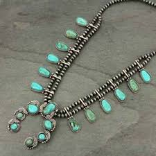 natural turquoise necklace images Nwt full squash blossom natural turquoise necklace 731570005 ebay jpg