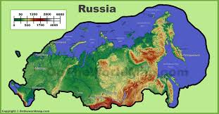 World Physical Map by Russia Physical Map