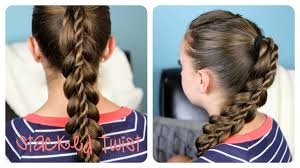 Simple Girls Hairstyles by Stacked Twist Cute Braided Hairstyles Cute Girls Hairstyles