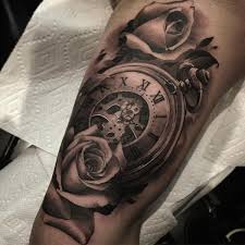 watch with rose tattoo 100 awesome watch tattoo designs u003c3 u003c3