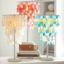 Lamps For Girls Bedroom Capiz Table Lamp Cfl Bulb White Pb Teen Alcove And Room