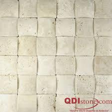 NYSA Travertine Mosaic Tile QDIsurfaces - Travertine mosaic tile backsplash