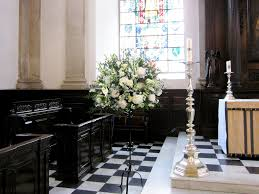 Wedding Flowers Church Wedding Flowers Pedestal Arrangement In Church Flowers By Flourish