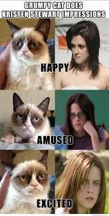 Kristen Stewart Meme - grumpy cat does kristen stewart impressions weknowmemes