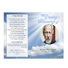 memorial service programs templates free sky memorial program funeral phlets