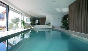 indoor swimming pool building construction house extension idea