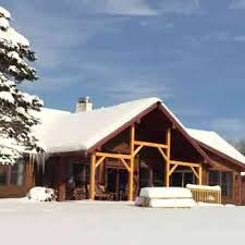 Winter House Sterling Ridge Log Cabin Resort In Beautiful Vermont
