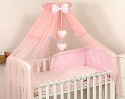 Luxury Pink Cotbed Cot Canopy Drape Big 485cm Holder