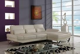 global furniture bonded leather sofa u1350 sectional sofa in off white bonded leather by global
