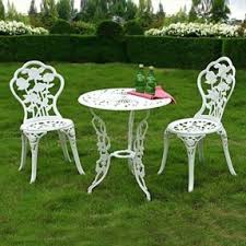 Bistro Patio Table And Chairs Set Cast Iron Patio Furniture Sets Foter