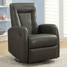 monarch faux leather swivel rocker recliner with ottoman walmart com