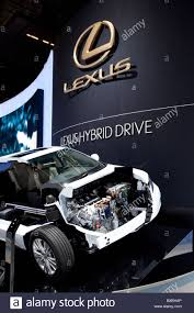 the toyota hybrid car of the lexus brand which belongs to the toyota group