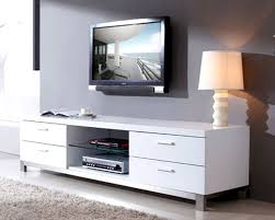 Media Console Table Furniture Accessories White Modern Polished Wooden Media Console