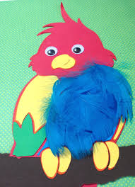parrot with feathers bird animal craft kit for kids birthday party