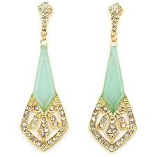 roaring 20 s dangle earrings russe polyvore