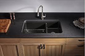 black undermount kitchen sink kohler cairn undermount double bowl kitchen sink matte black