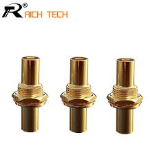 aliexpress buy hot gold plated 5mm 3 5mm tungsten 3pcs 3 5mm adapter with lock earphone socket