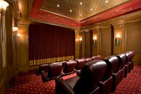 Home Cinema Decorating Ideas Building Home Theater Home Theater Contemporary With Wood Trim