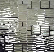 metal wall tiles kitchen backsplash silver metal mosaic stainless steel kitchen wall tile backsplash