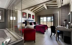 chambre en lambris bois design interieur chambre luxe style chalet moderne lambris bois