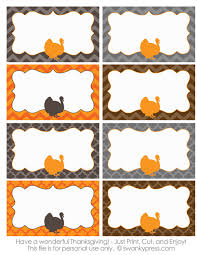 free printable thanksgiving food labels or name cards you can use