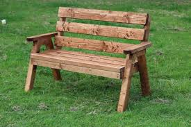 Designer Wooden Garden Benches by Two Seater Garden Bench Outdoorlivingdecor