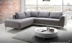 canapé design gris canape angle en tissu design gris clair haut de gamme pas cher moon
