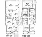 narrow house plan 2 house plans with basement lovely narrow house plan c7245 2