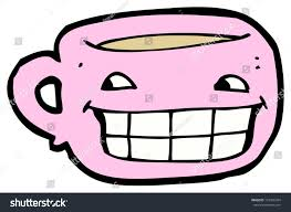 cartoon coffee mug happy face stock illustration 101306764