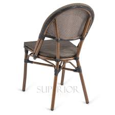 bamboo chair synthetic bamboo textilene mesh commercial outdoor chair